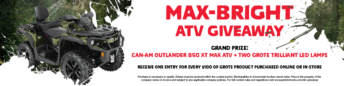 image of ATV with contest details